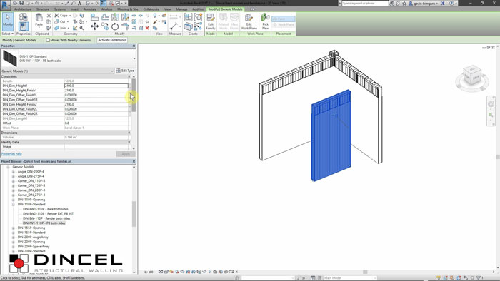 Dincel revit - Systems video