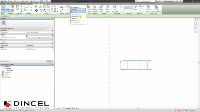 Dincel revit - profiles video